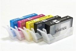 Нано-картриджи BURSTEN I CH4 с чипами для HP C310b с картриджами 178 x 5