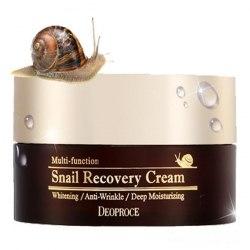 Крем восстанавливающий с фильтратом слизи улитки DEOPROCE Snail Recovery Cream |100 мл |
