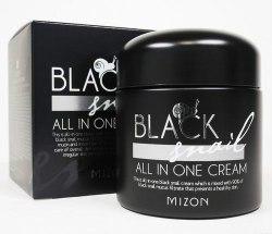 Многофункциональный крем с фильтратом черной улитки MIZON Black Snail All in one Cream 75мл
