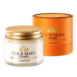 Питательный и восстанавливающий крем для лица с лошадиным жиром BERRISOM Gold Mayu Cream 70мл