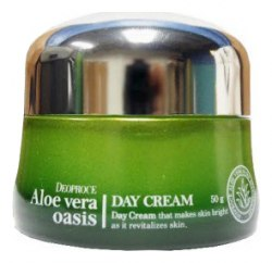 Крем дневной для лица с алое вера DEOPROCE Aloe Vera Oasis Day Cream 50ml