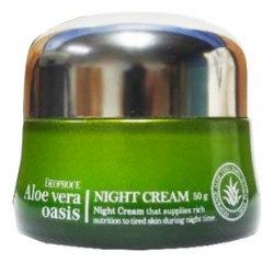 Крем ночной для лица с алое вера DEOPROCE Aloe Vera Oasis NIGHT Cream 50ml