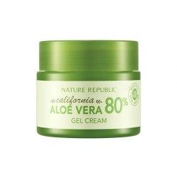 Заживляющий крем-гель для лица с экстрактом калифорнийского алоэ вера NATURE REPUBLIC California Aloe Vera 80% Gel Cream 50мл