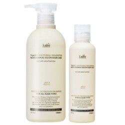 Шампунь с натуральными ингредиентами маслами LA'DOR Triplex Natural Shampoo 150мл/530мл