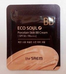 ББ-крем Фарфоровая кожа (пробник) THE SAEM Eco Soul Porcelain Skin BB Cream