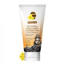 Пенка для умывания для сухой и чувствительной кожи WELCOS Jeju Natural Canola Honey Cleansing Foam120 мл