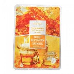 Маска тканевая питательная омолаживающая на основе фильтрата улитки и мёда DEOPROCE Color Synergy Effect Sheet Mask Yellow 20g