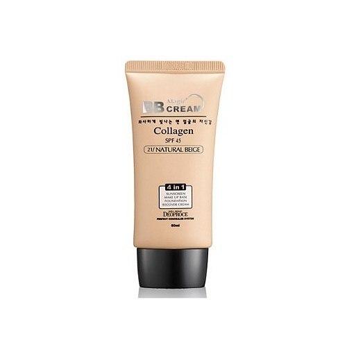 Крем ББ с коллагеном и гиалуроновой кислотой DEOPROCE SPF45 PA++ Magic BB Cream