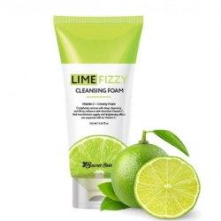 Пенка для умывания с экстрактом лайма и газированной водой SECRET SKIN Lime Fizzy Cleansing Foam 120мл