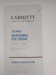 Крем для кожи вокруг глаз осветляющий LABIOTTE Licorice Whitening eye Cream пробник 1мл