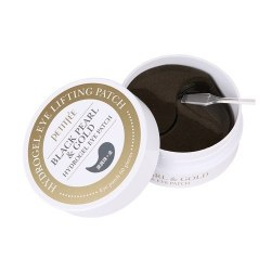 Гидрогелевые патчи с золотом и пудрой черного жемчуга PETITFEE Black Pearl & Gold Hydrogel Eye Patch 60 шт