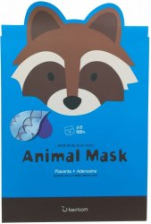 -Berrisom Animal Маска тканевая с экстрактом плаценты Animal mask series - raccoon 25мл Berrisom