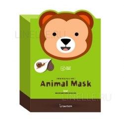 -Berrisom Animal Маска тканевая с муцином улитки Animal mask series - monkey 25мл Berrisom