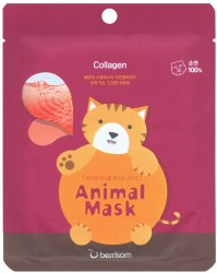 -Berrisom Animal Маска тканевая с морским коллагеном Animal mask series - Cat 25мл Berrisom