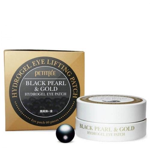 PETITFEE Гидрогелевые патчи для глаз ЖЕМЧУГ/ЗОЛОТО Black Pearl&Gold Hydrogel Eye Patch, 60 шт PETITFEE