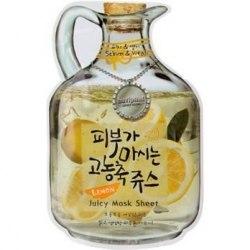 -BAVIPHAT Juicy Маска тканевая фруктовая Lemon Juicy Mask Sheet(sebum & Vital) 23гр BAVIPHAT