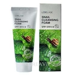 Пенка для умывания с муцином улитки Snail Cleansing Foam 100 мл Lebelage