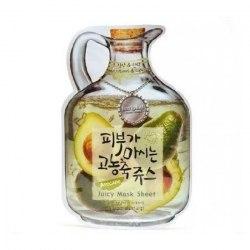 BAVIPHAT Juicy Маска тканевая фруктовая Avocado Juicy Mask Sheet(Nutritious&Lifting) 23гр BAVIPHAT