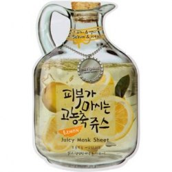 BAVIPHAT Juicy Маска тканевая фруктовая Lemon Juicy Mask Sheet(sebum & Vital) 23гр BAVIPHAT
