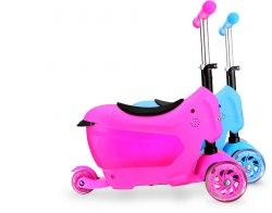 Самокат детский со светящимися колесиками Scooter Mini 2Go
