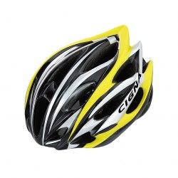 Шлем велосипедный Cigna WT-015 (чёрный/жёлтый/серебристый)