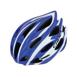 Шлем велосипедный Cigna WT-015 (чёрный/синий/белый)