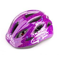 Шлем велосипедный детский Cigna WT-021 (чёрный/фиолетовый)