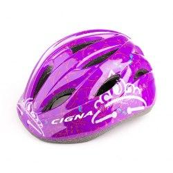 Шлем велосипедный детский Cigna WT-021 (чёрный/фиолетовый 2)