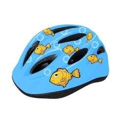 Шлем велосипедный детский Cigna WT-021 (чёрный/голубой рыбки)