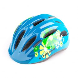 Шлем велосипедный детский Cigna WT-024 (чёрный/синий цветы)