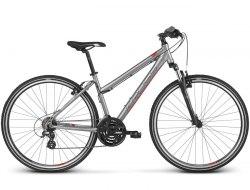 Велосипед Kross Evado 2.0 lady (серебристый/красный, 2019)