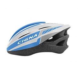 Шлем велосипедный взрослый Cigna WT-040 (чёрный/фиолетовый/белый)