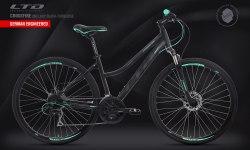 Велосипед LTD Crossfire 840 Lady Black-Turquoise (2020)