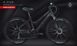 Велосипед LTD Crossfire 860 Lady Black-Turquoise (2020)