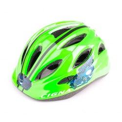 Шлем велосипедный детский Cigna WT-021(чёрный/зелёный)