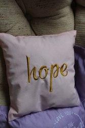"Саше-подушка с вышивкой ""Hope"" (Надежда)"