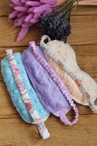 Саше-маски с лавандой (расцветка на выбор, ткань хлопок+плюш)