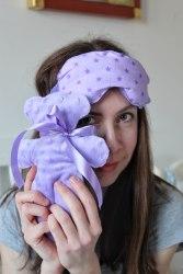 Саше Мишаня с лавандой (расцветка на выбор, ткань хлопок+плюш)