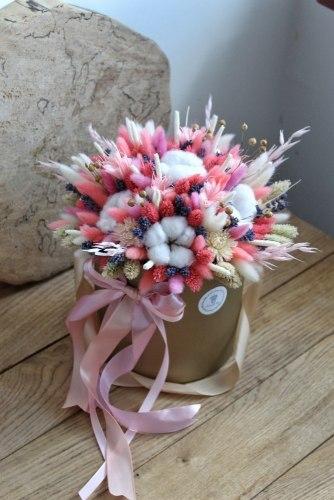 Букет в розовых тонах в коробке