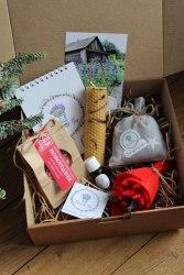 Набор с саше-мешочком новогодний в крафт-коробке