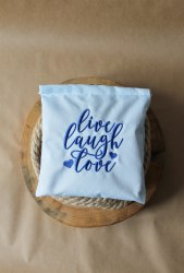 """Саше-думочка тканевое с вышивкой """"Live Love Laugh"""""""