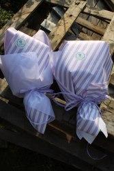 Хлопково-лавандовый пухлый букет