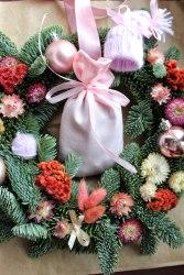 Саше-мешочек тканевое розовое