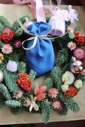 Саше-мешочек тканевое синее