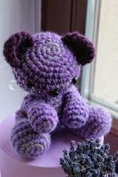 """Саше """"Лавандовый мишка"""" темно-фиолетовый"""