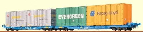 Cет двух немецких вагонов-контейнеровозов AAE DB Brawa 2300