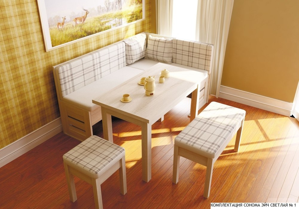 Скамейка диван для кухни
