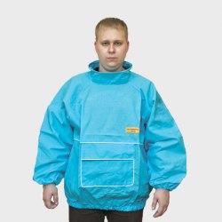Куртка защитная пчеловодная (ткань х/б, бязь) цвет синий