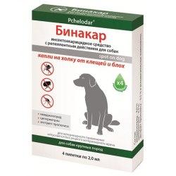 Бинакар капли на холку для собак (2 мл/4 пипетки)