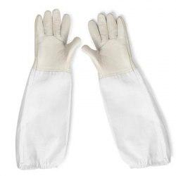 Перчатки с нарукавниками (искусственная кожа)